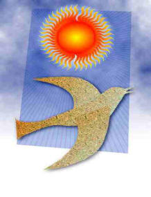 Graphic of the dove of the Holy Spirit