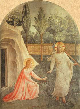 Mary Magdalene sees the resurrected Lord